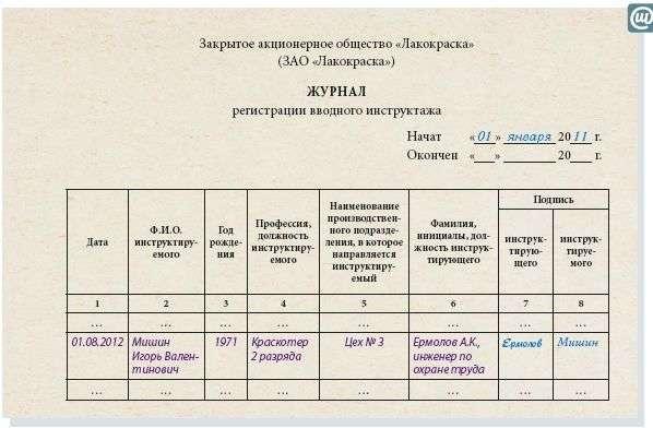 Инструкция Повторного Инструктажа
