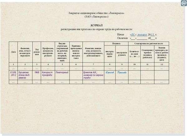 Пример Инструкции Вводного Инструктажа По Охране Труда - фото 8