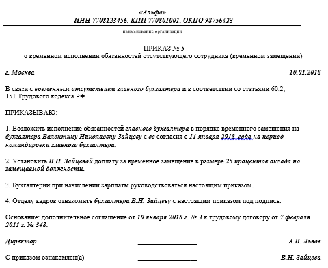 Классификация приказов | ЦБУиНП Консультант